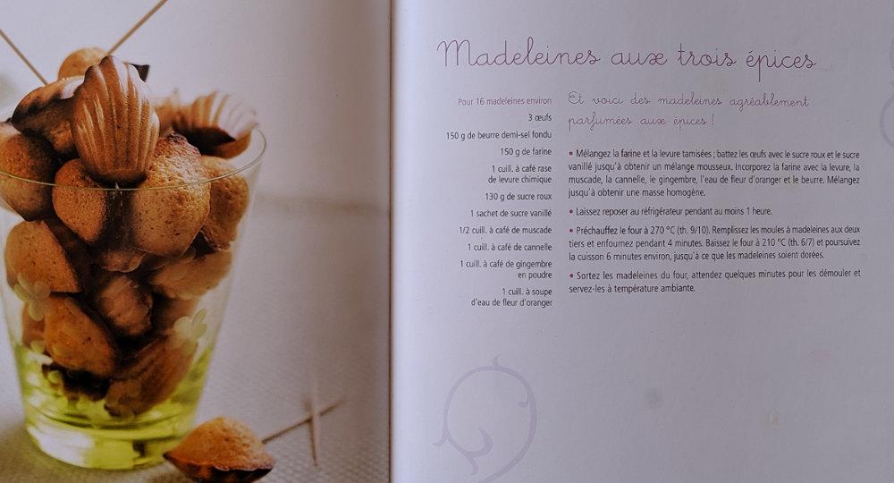 Recette Madeleines aux trois épices de Lucia Pantaleoni
