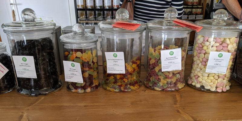 Süßigkeiten im Unverpackt Laden Frankfurt