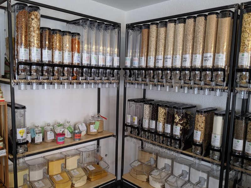 Trockene Lebensmittel im Unverpackt Laden Frankfurt