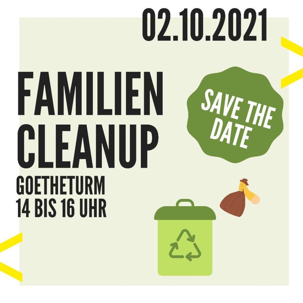 Familien Cleanup am Goetheturm » Save the date